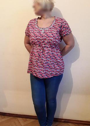 Хлопковая блузка рубашка