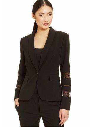 """Жакет пиджак блайзер """"12"""" (usa) черный с акцентными рукавами н..."""