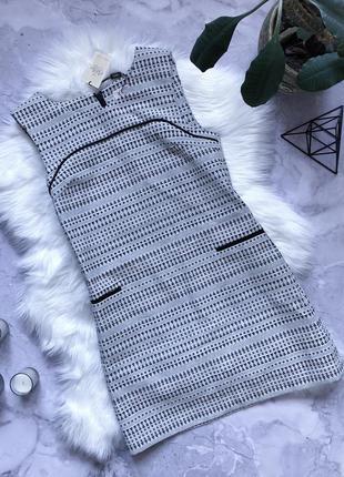 Новое платье с плотной ткани стильный сарафан next