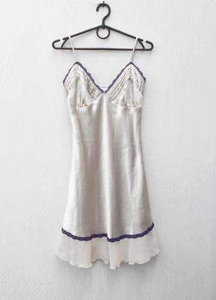 Сексуальная бежевая ночнушка ночная сорочка с кружевом