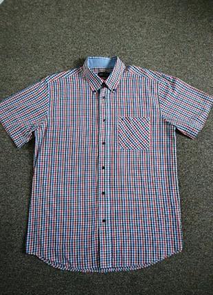 Клечатая рубашка с коротким рукавом