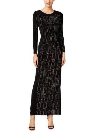 Вечернее  платье calvin klein с  декором во всю длину по перед...