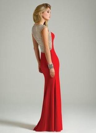 """Платье """"рыбка"""" с фигурной золотистой вставкой по спине , бокам..."""
