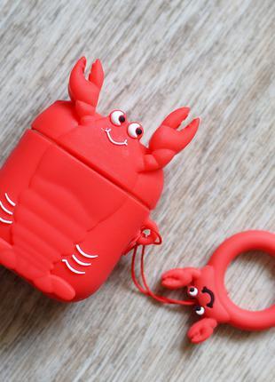 Силиконовый чехол Lobster для наушников Apple Airpods 1/2
