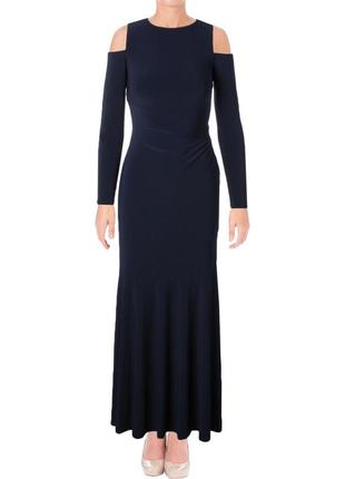 Вечернее платье макси *ralph lauren* с вырезами в области плеч...