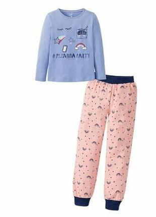 Байковая пижама lupilu 86-92р