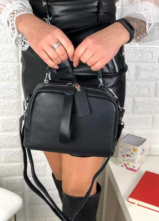 Клатч кожа через плечо длинный ремешок сумка кросс боди