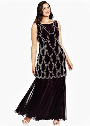 """Вечернее платье """"рыбка"""" ,с шикарным декором по торсу plus 16w ..."""