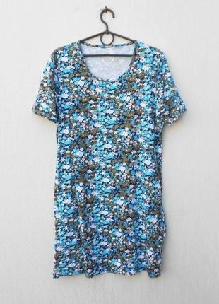Трикотажная хлопковая ночнушка сорочка одежда для дома