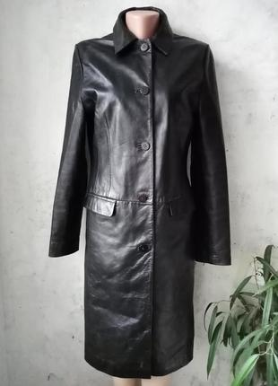 Кожаный плащ, пальто, тренч, натуральная кожа
