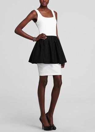 Эффектное платье b&w по фигуре с двойной юбкой а-силуэт и  шик...