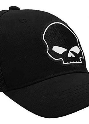 Черная бейсболка Harley-Davidson Skull, Кепка