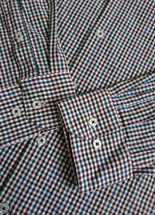 Рубашка мужская мелкая клетка