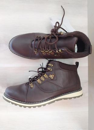 Утеплённые коричневые ботинки р. 42 livergy германия демисезонные