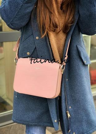 Клатч david jones cm3598a pink оригинал розовая кросс боди пуд...