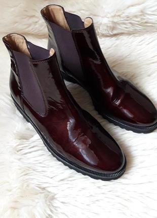 Кожаные ботинки ботильоны gabor