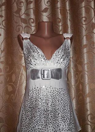✨✨✨красивая женская белая майка, блузка с блестками progress🔥🔥🔥