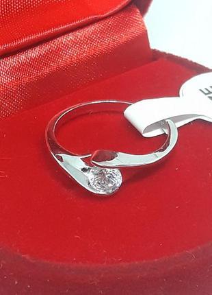 Кольцо серебро серебристое р. 16