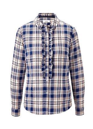 Хлопковая рубашка в клетку tcm tchibo