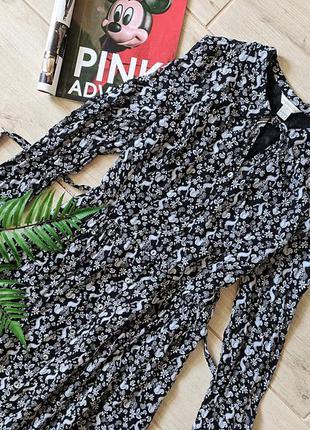 Красивое платье рубашка миди с завязками