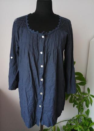 100% лен рубашка блузка италия