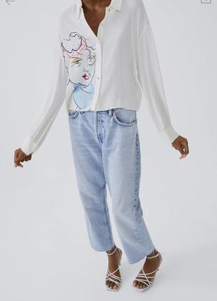 Стильная блуза zara под высокие джинсы