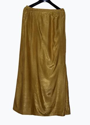 Шикарная длинная юбка горчичного цвета series