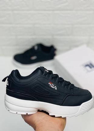 Кроссовки fila disraptor 2 black кросівки філа кроссовки фила ...