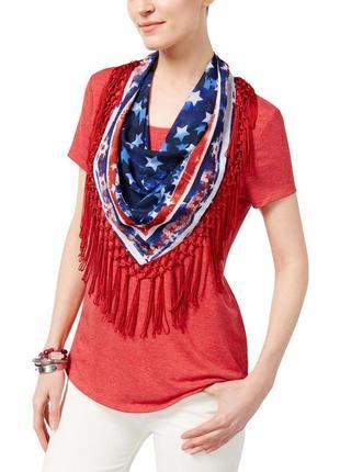 Комплект : футболка +съемный шелковый шейный платок в принт с ...