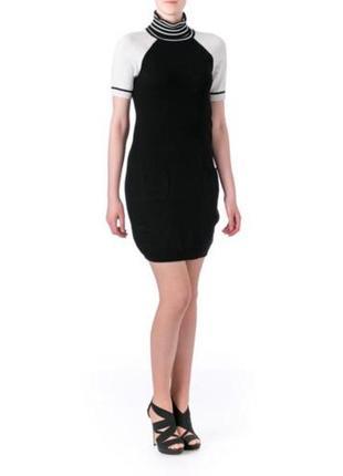 Tommy hilfiger платье-гольф b&w c короткими полноценными рукав...