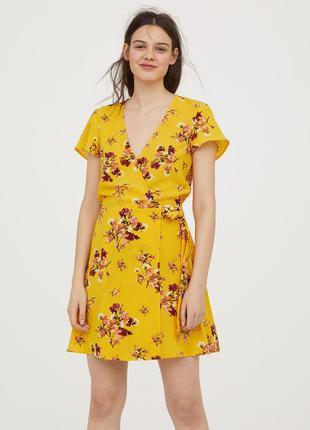 Стильное летнее платье h&m размер 36