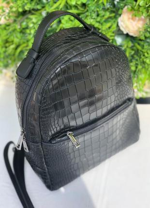 Невероятно стильный и практичный кожаный рюкзак.
