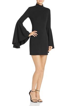 """Супер-эффектное коктейльное мини платье с рукавами """"ангел"""" и в..."""