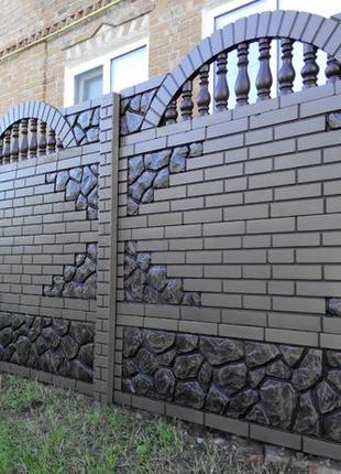 Еврозабор, забор бетонный, паркан