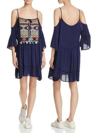 Вискозное платье бохо в этническом стиле с оголенными плечами ...