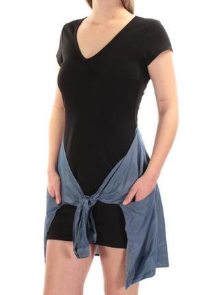 Задорное молодежное платье, с поясом - рубашки из денима