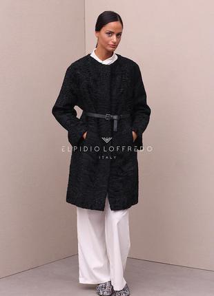 Пальто каракульча swakara персидский аукционный мех стильная к...