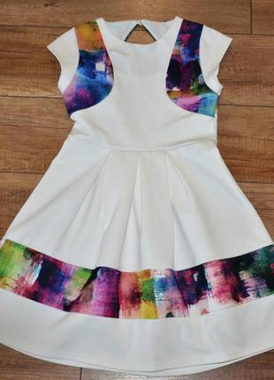 Платье стильное, нарядное 134-140 см 9-10 лет