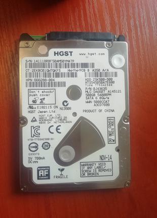 Жёсткий диск SATA 2.5 на 500 GB