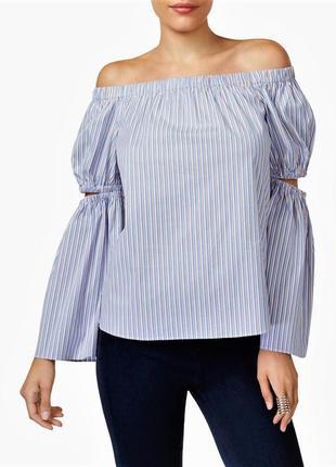 Рубашка пуловер со спадающими плечами, длинными акцентными рук...