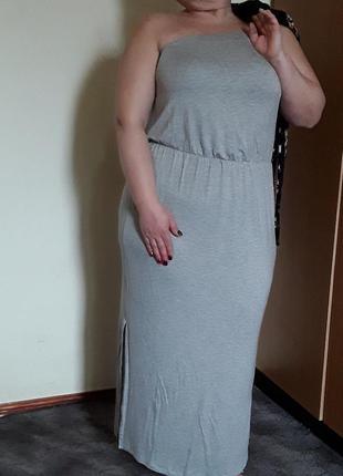 Трикотажное платье сарафан с кардиганом