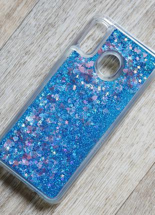 Чехол аквариум с блестками для Samsung Galaxy A30 (sm-a305)