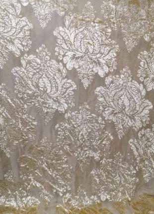 Тюль производсто Италия с велюровым рисунком