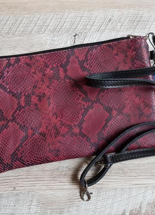 Кожаная сумочка рептилия италия