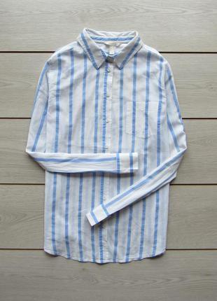 Легкая хлопковая рубашка в полоску от springfield