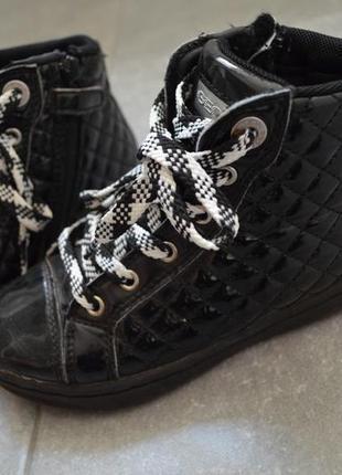 Наши ботинки джеокс р. 12,5(31),на узкую ножку стелька кожа 20
