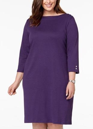 """Платье (100% cotton) платье-футболка  """"ультрафиолет"""", рукава 3..."""