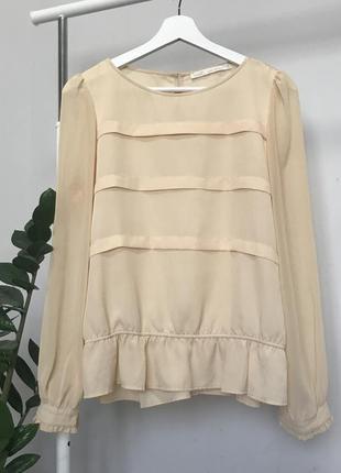 #розвантажуюсь шифонова блуза бежева нюдова