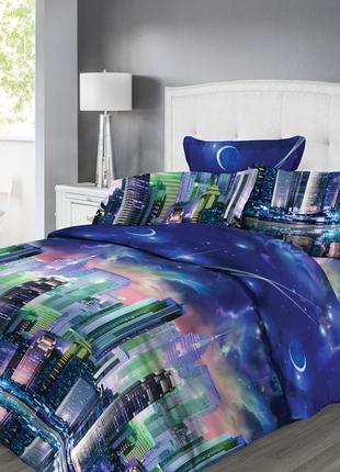 Ночной город - яркое постельное белье из 100% хлопка премиум