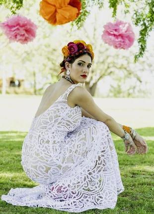 Невероятно утонченное нарядное (можно для свадьбы) платье из б...
